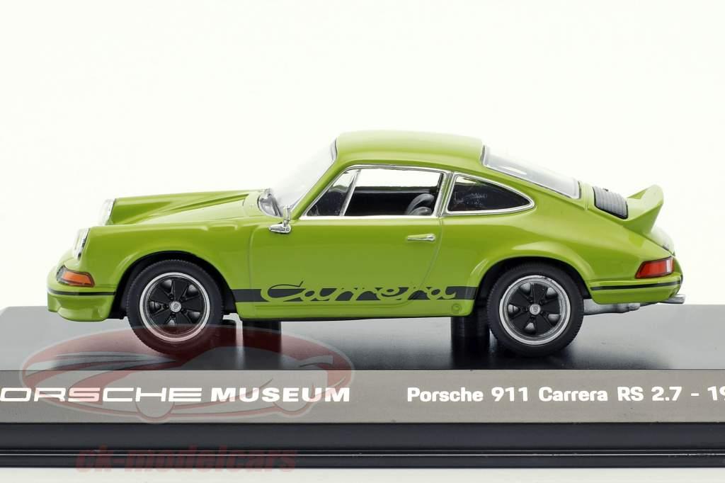 Porsche 911 Carrera RS 2.7 année de construction 1973 jade vert / noir 1:43 Welly