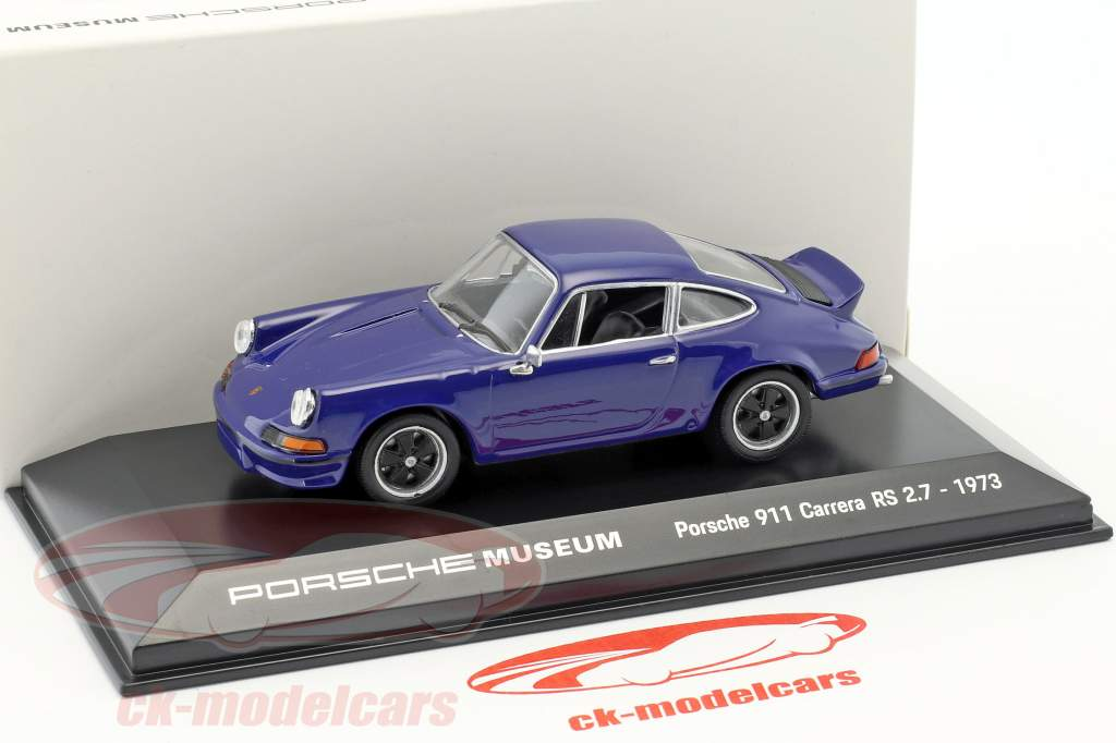 Porsche 911 Carrera RS 2.7 Bouwjaar 1973 zee blauw 1:43 Welly