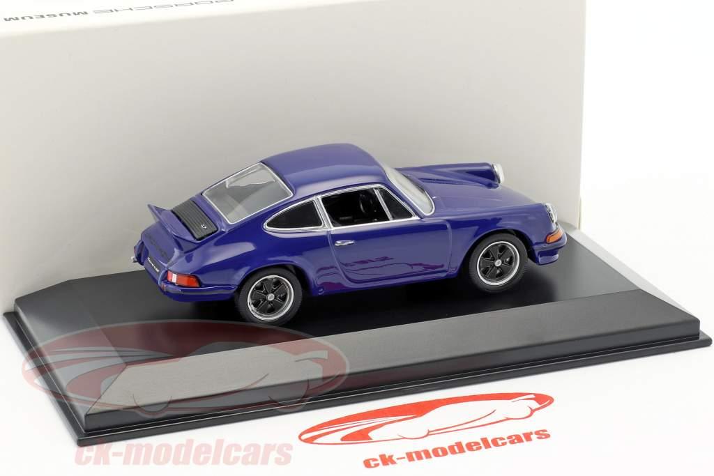 Porsche 911 Carrera RS 2.7 année de construction 1973 mer bleu 1:43 Welly