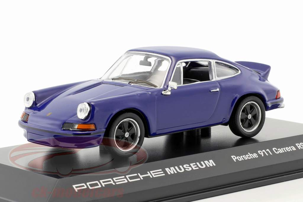 Porsche 911 Carrera RS 2.7 Baujahr 1973 seeblau 1:43 Welly
