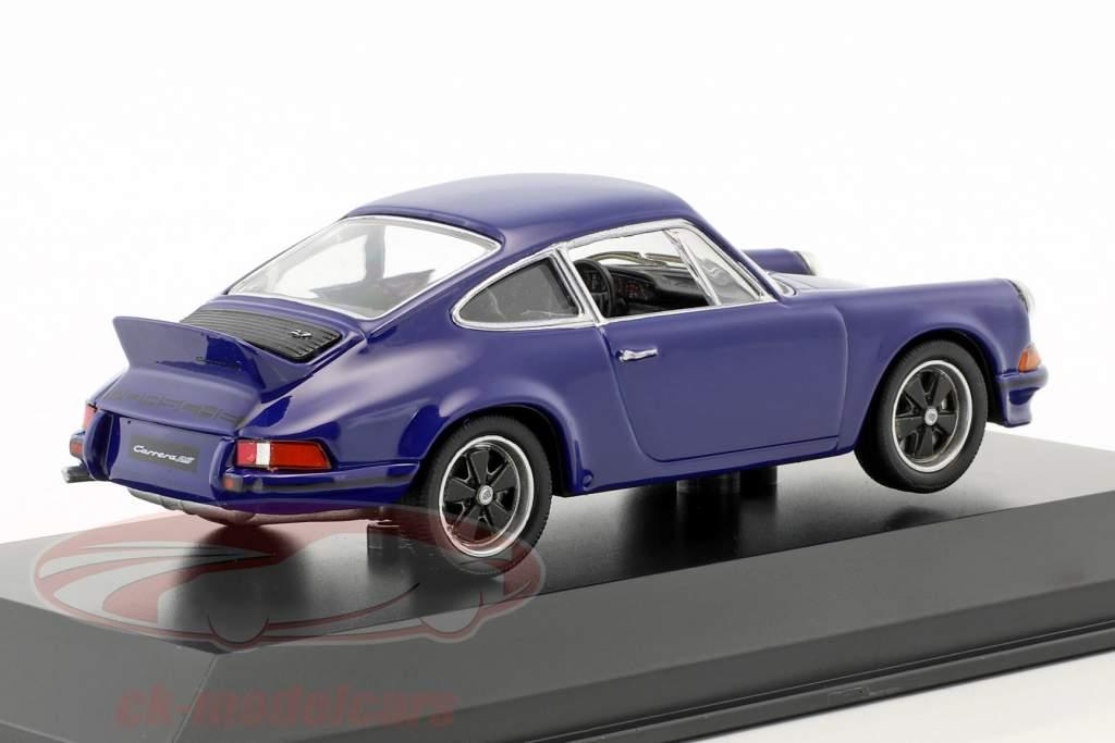 Porsche 911 Carrera RS 2.7 año de construcción 1973 mar azul 1:43 Welly