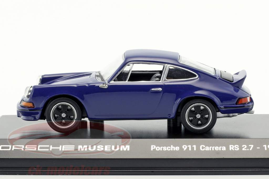 Porsche 911 Carrera RS 2.7 Opførselsår 1973 hav blå 1:43 Welly