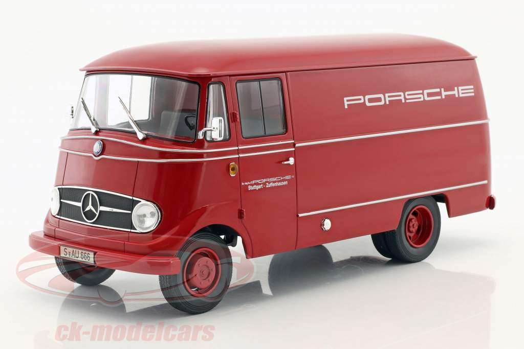 Mercedes-Benz L319 Porsche racing service anno 1955 rosso 1:18 Norev