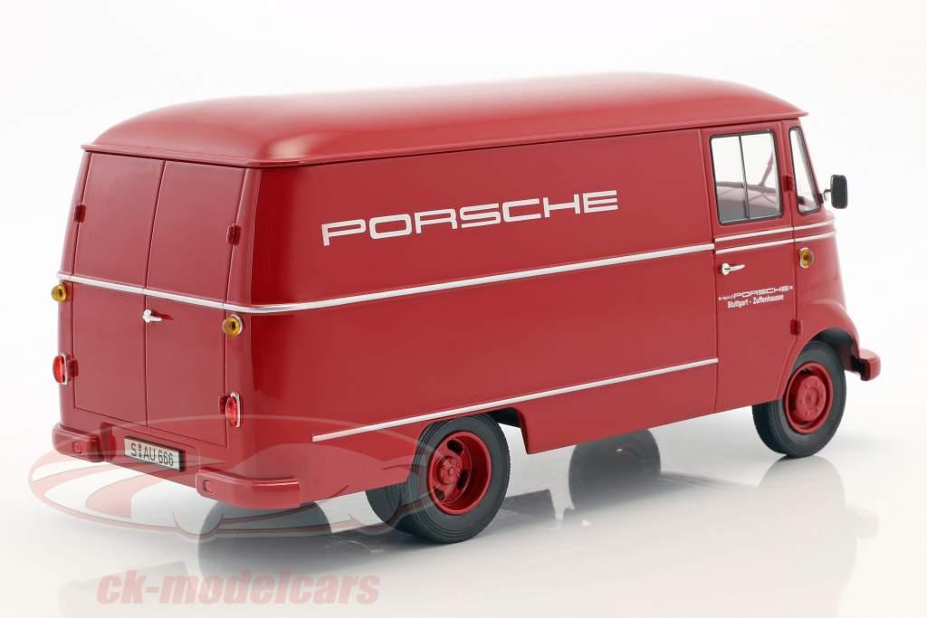 Mercedes-Benz L319 Porsche service de course année 1955 rouge 1:18 Norev