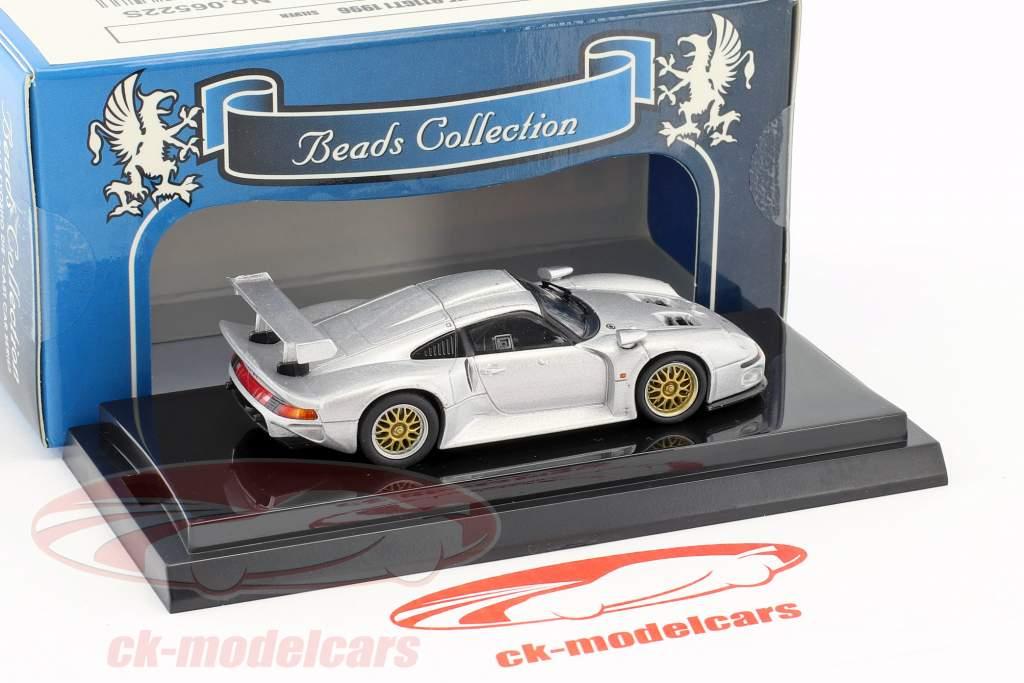Porsche 911 GT1 anno di costruzione 1996 argento metallico 1:64 Kyosho