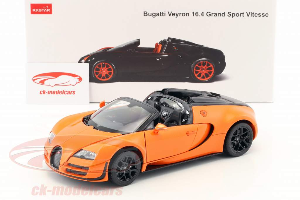 Rastar 1 18 Bugatti Veyron 16 4 Grand Sport Vitesse Orange Black