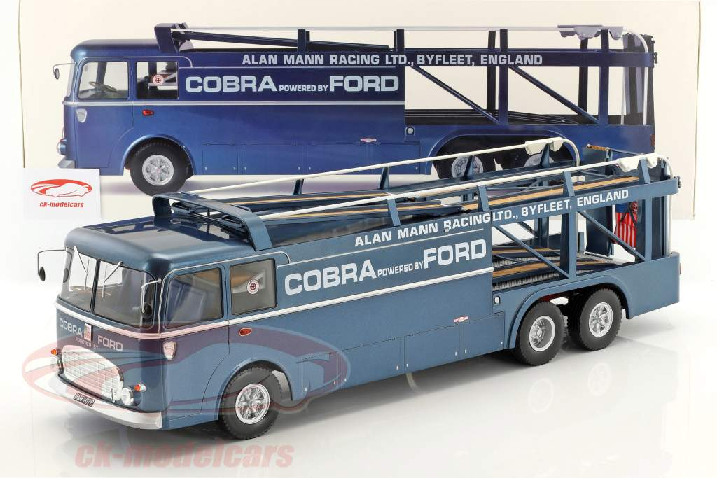 Fiat Bartoletti 306/2 Shelby Cobra courses transporteur Alan Mann Racing Ltd 1:18 Norev