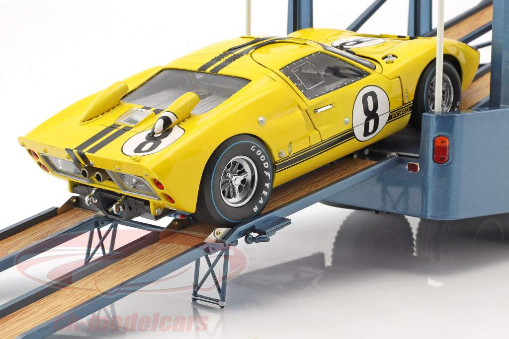 Fiat Bartoletti 306/2 Shelby Cobra carreras transportador Alan Mann Racing Ltd 1:18 Norev