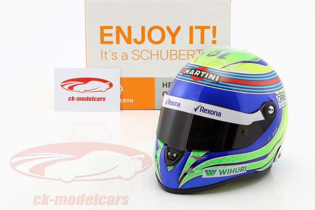 Felipe Massa Williams FW38 formule 1 2016 casque 1:2 Schuberth