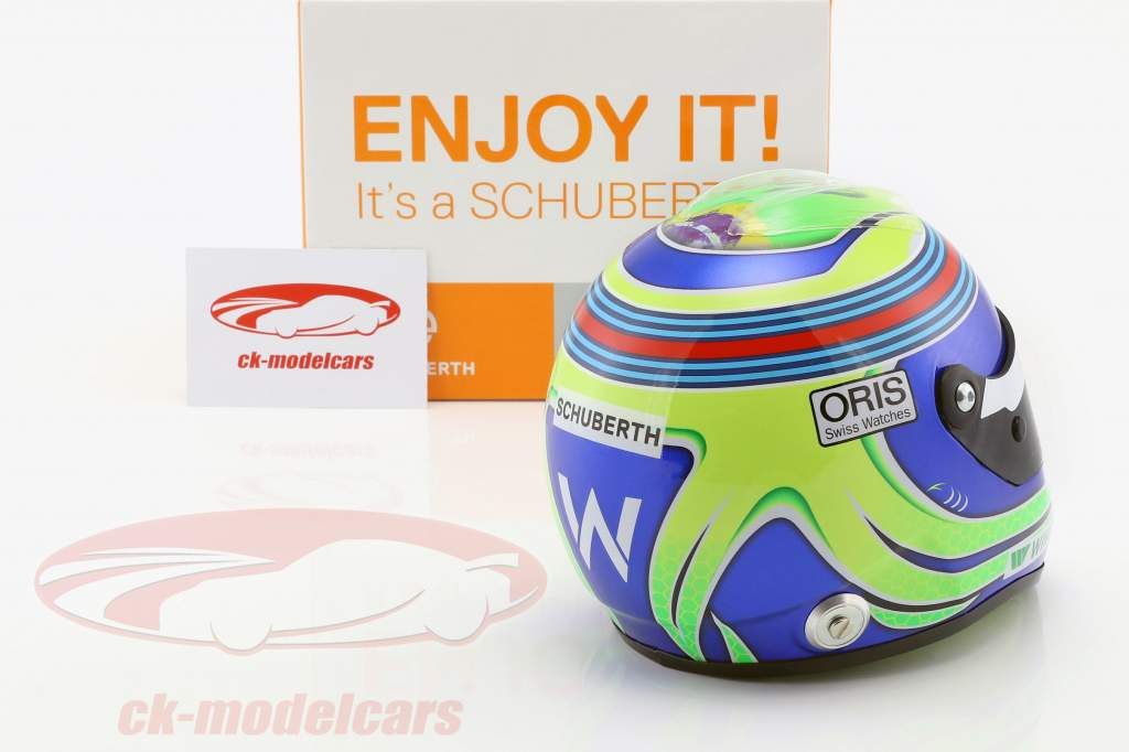 Felipe Massa Williams FW38 formula 1 2016 helmet 1:2 Schuberth