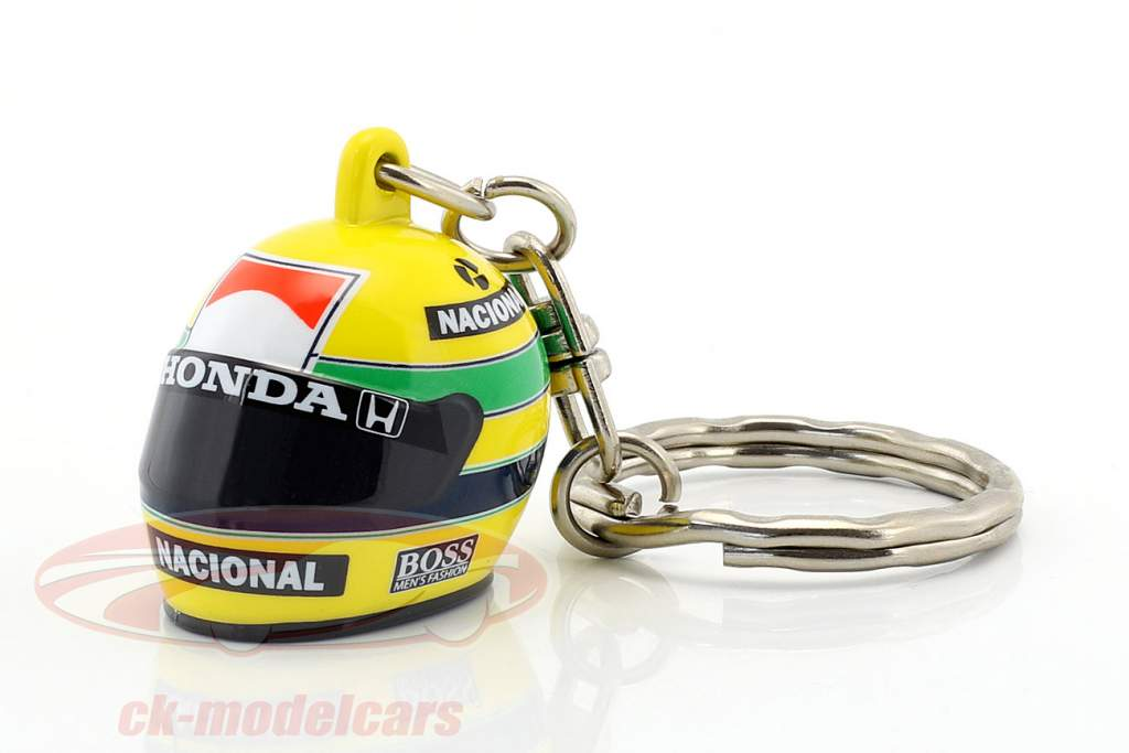 Ayrton Senna 3D Keyring helmet formula 1 1988 1:12 Minichamps