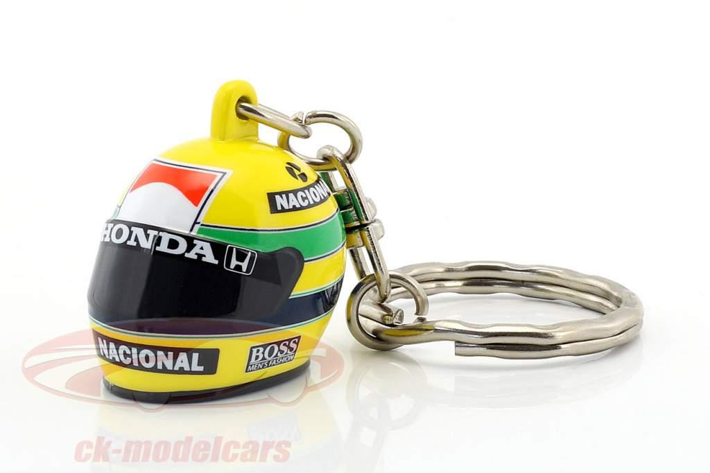 Ayrton Senna 3D Portachiavi casco formula 1 1988 1:12 Minichamps
