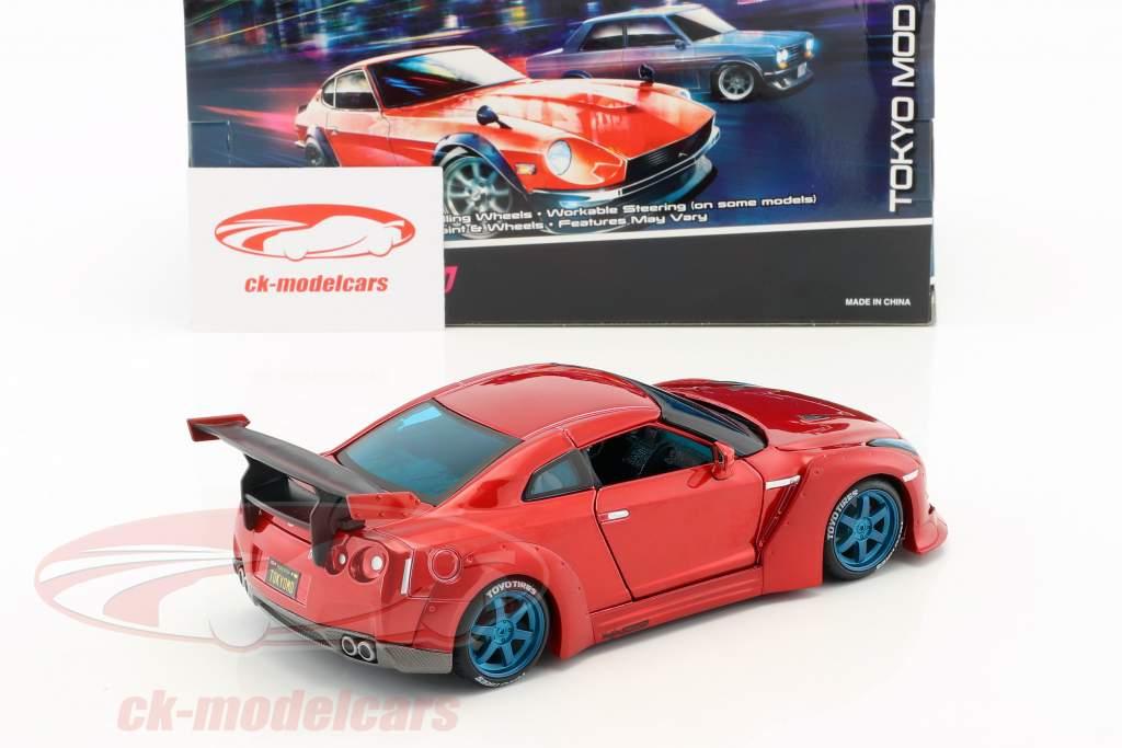 Nissan GT-R Tokyo Mod anno di costruzione 2009 rosso 1:24 Maisto