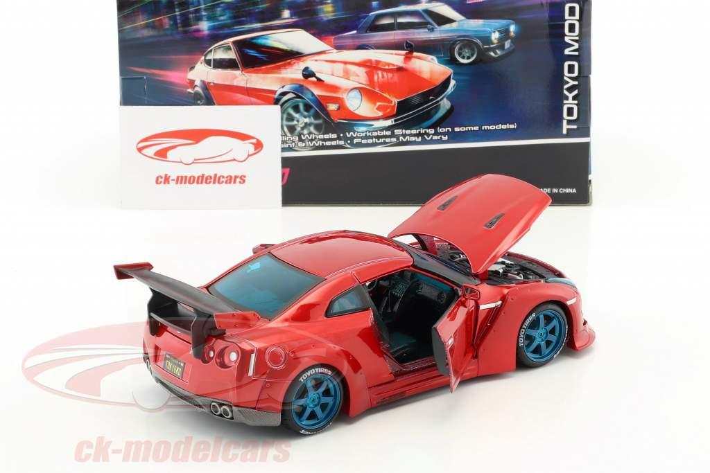 Nissan GT-R Tokyo Mod year 2009 red 1:24 Maisto