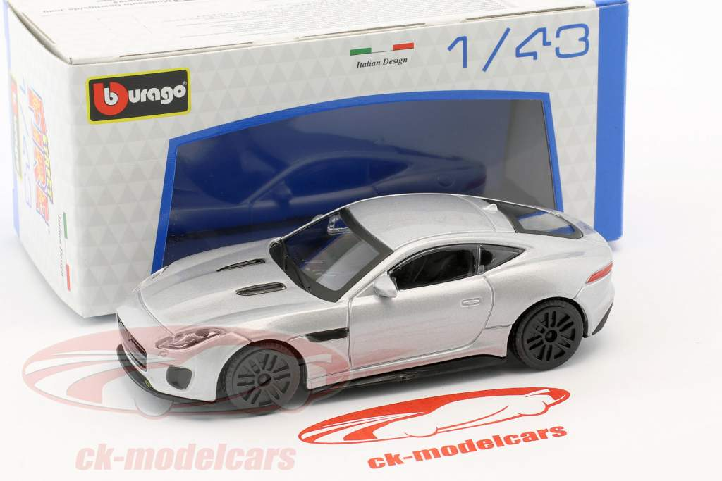 Jaguar F-Type R silber metallic 1:43 Bburago
