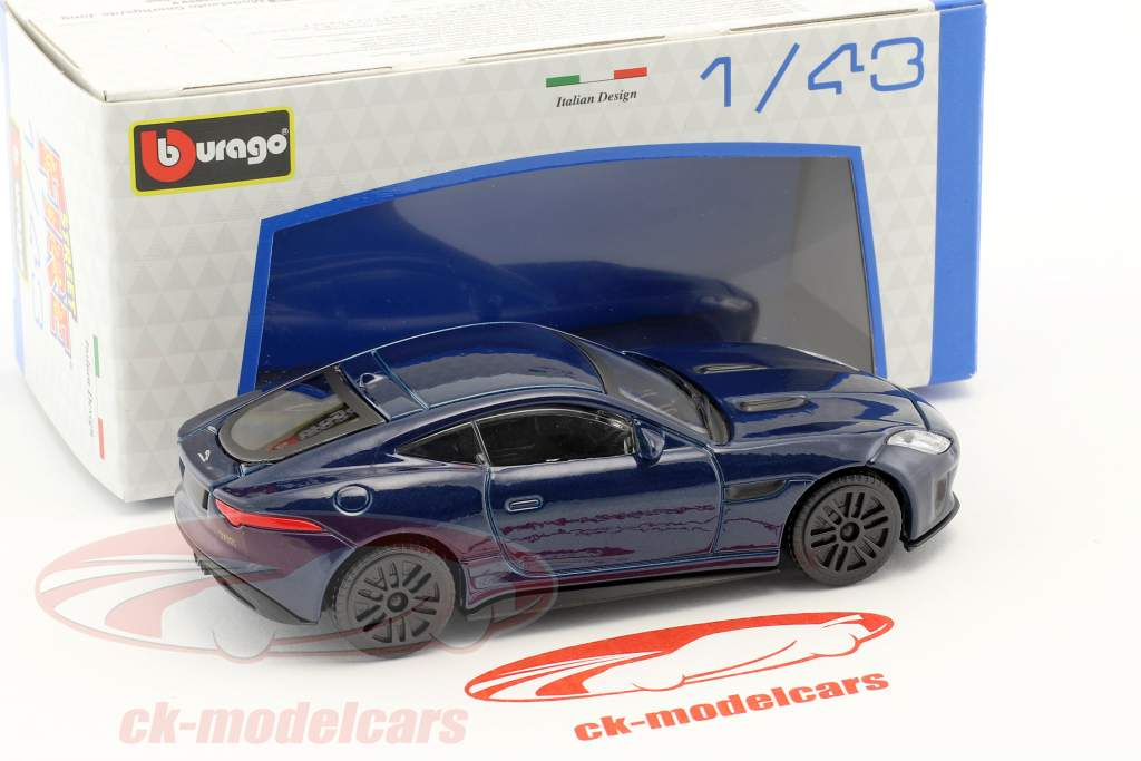 Jaguar F-Type bleu foncé 1:43 Bburago