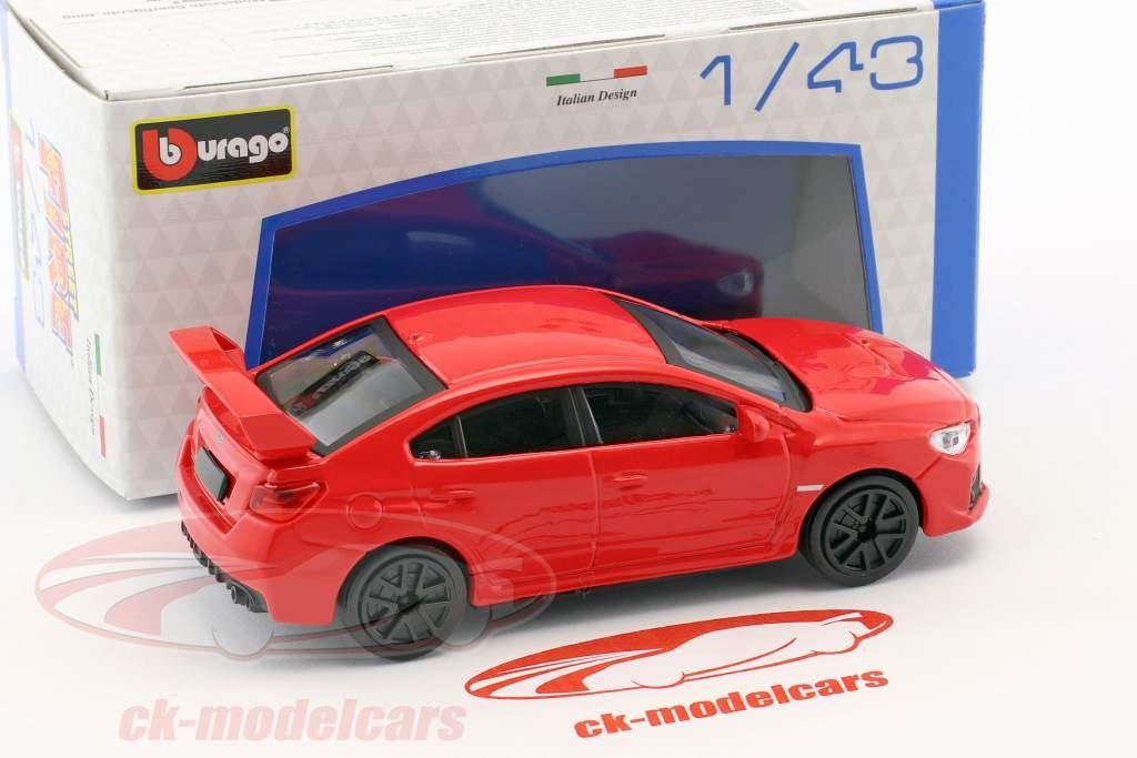 Subaru WRX STI année de construction 2017 rouge 1:43 Bburago
