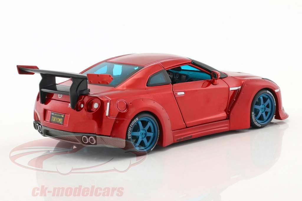 Nissan GT-R Tokyo Mod année de construction 2009 rouge 1:24 Maisto