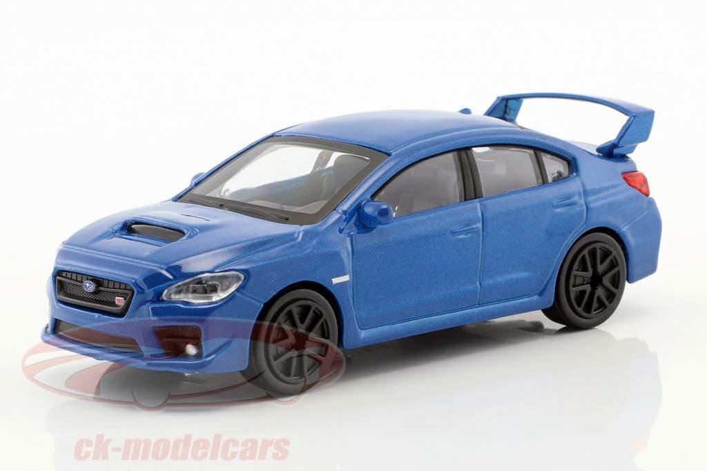 Subaru WRX STI anno di costruzione 2017 blu metallico 1:43 Bburago