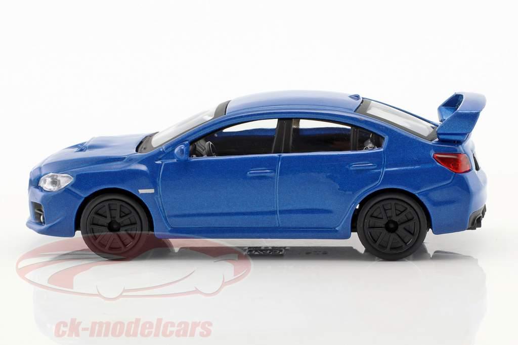 Subaru WRX STI Baujahr 2017 blau metallic 1:43 Bburago