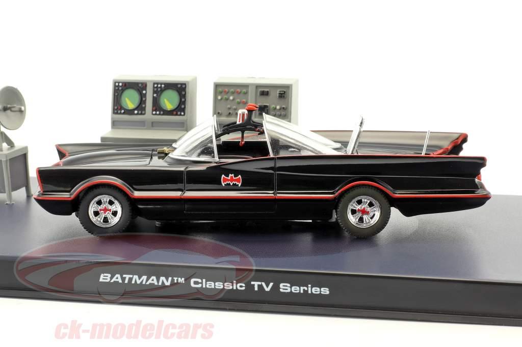 Batmóvel Batman TV Series 1966 preto 1:43 Ixo Altaya