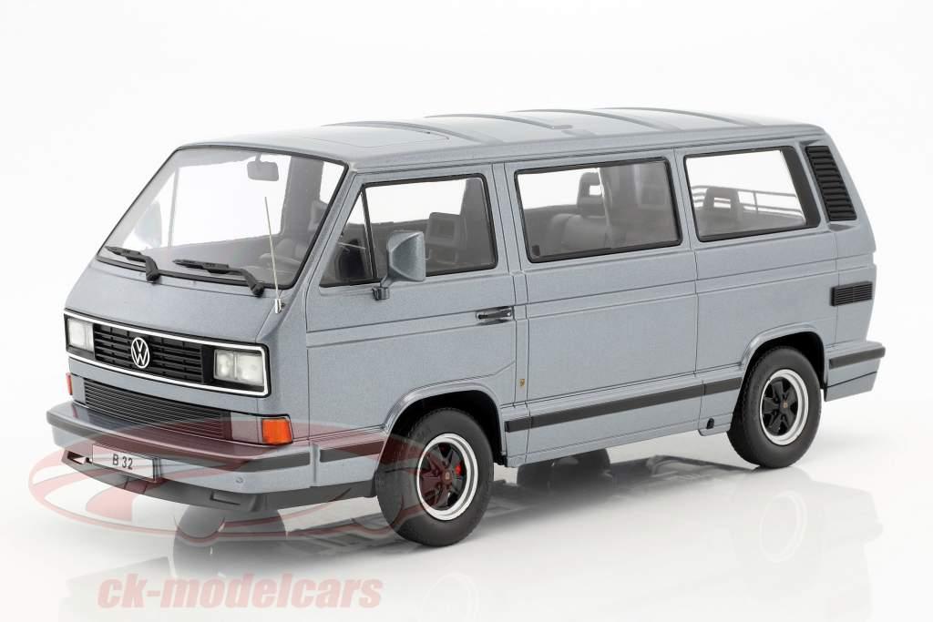Porsche B32 basé sur Volkswagen VW T3 bus année de construction 1984 gris métallique 1:18 KK-Scale