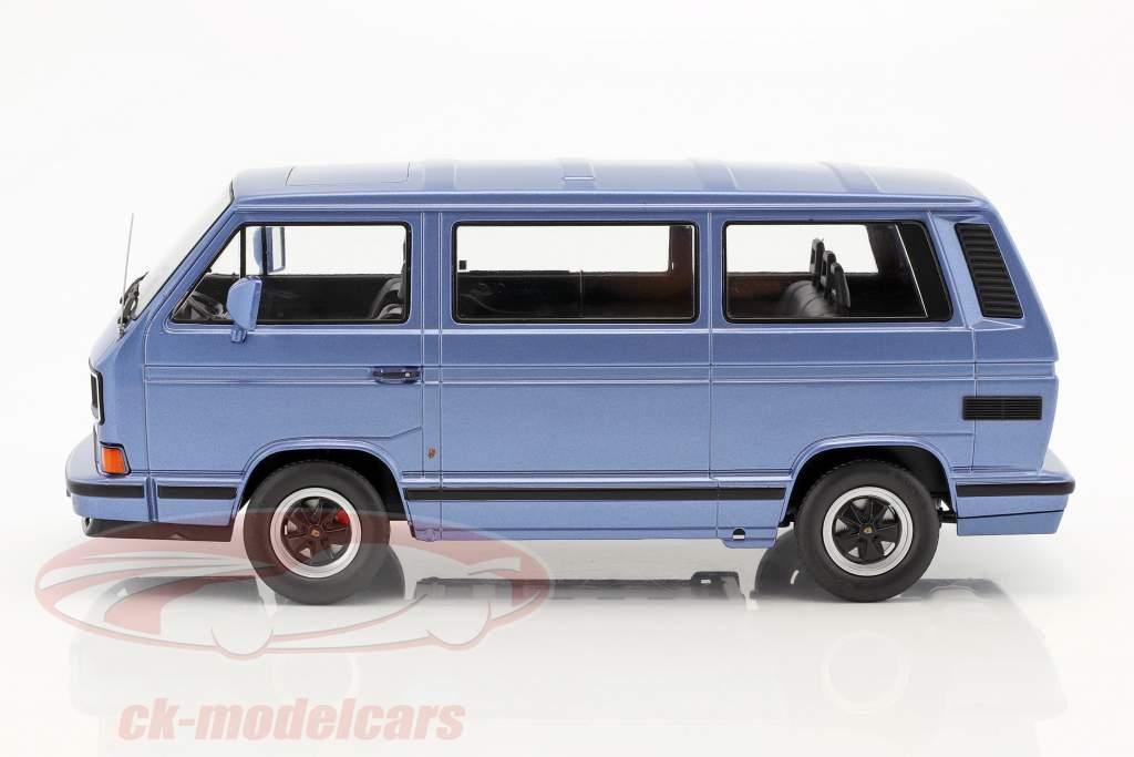 Porsche B32 basato su Volkswagen VW T3 autobus anno di costruzione 1984 azzurro metallico 1:18 KK-Scale