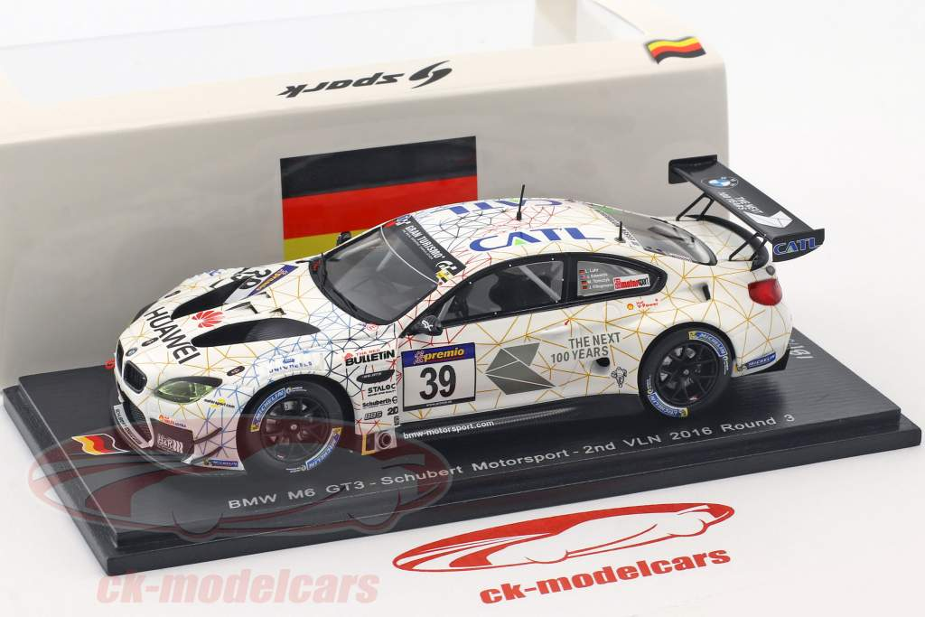 BMW M6 GT3 #39 2nd VLN 2016 Round 3 Luhr, Tomczyk, Edwards 1:43 Spark