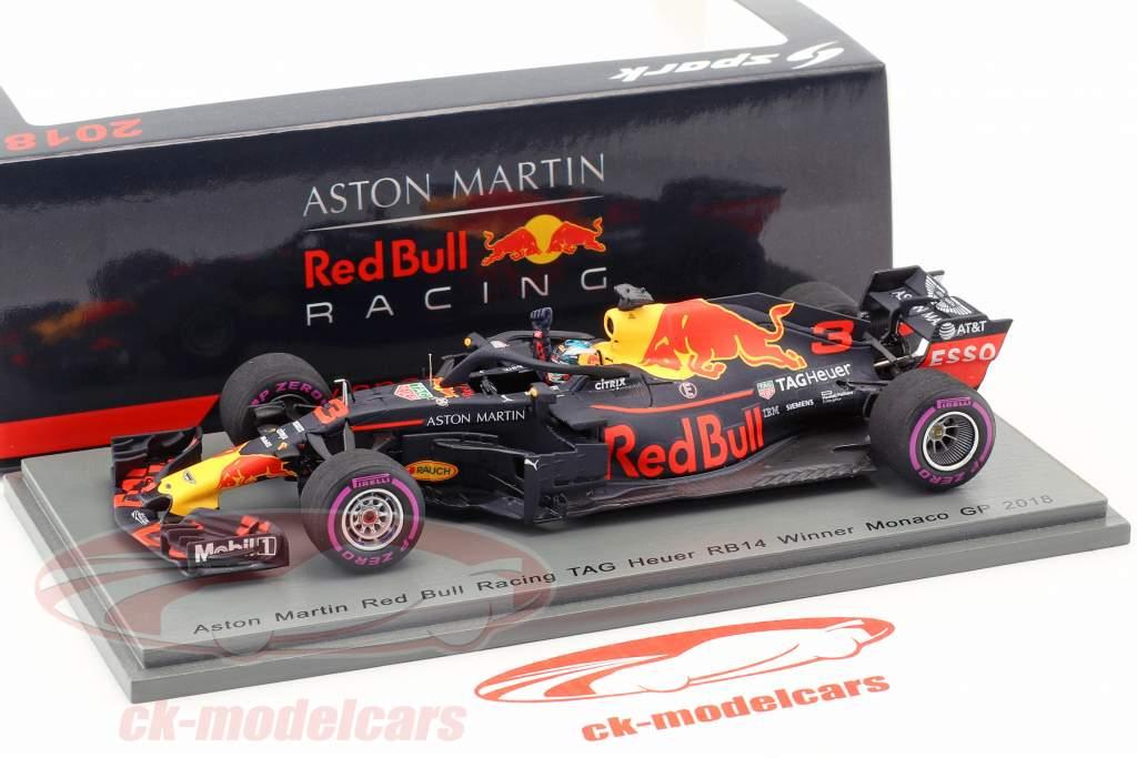 Daniel Ricciardo Red Bull Racing RB14 #3 gagnant Monaco GP formule 1 2018 250e course 1:43 Spark