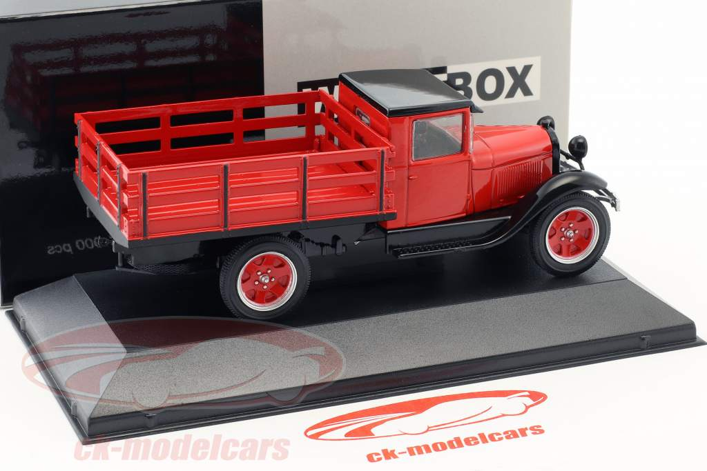 Ford AA Platform Truck année de construction 1928 rouge 1:43 WhiteBox