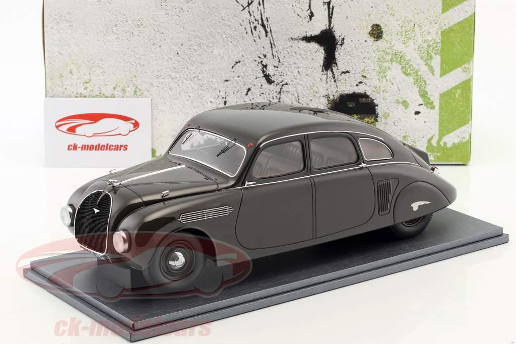Skoda 935 Streamliner anno di costruzione 1935 grigio nero 1:18 AutoCult