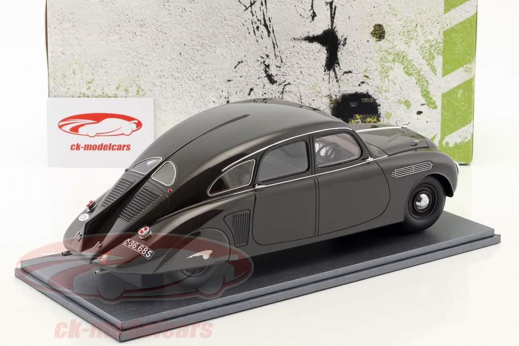 Skoda 935 Streamliner année de construction 1935 gris noir 1:18 AutoCult