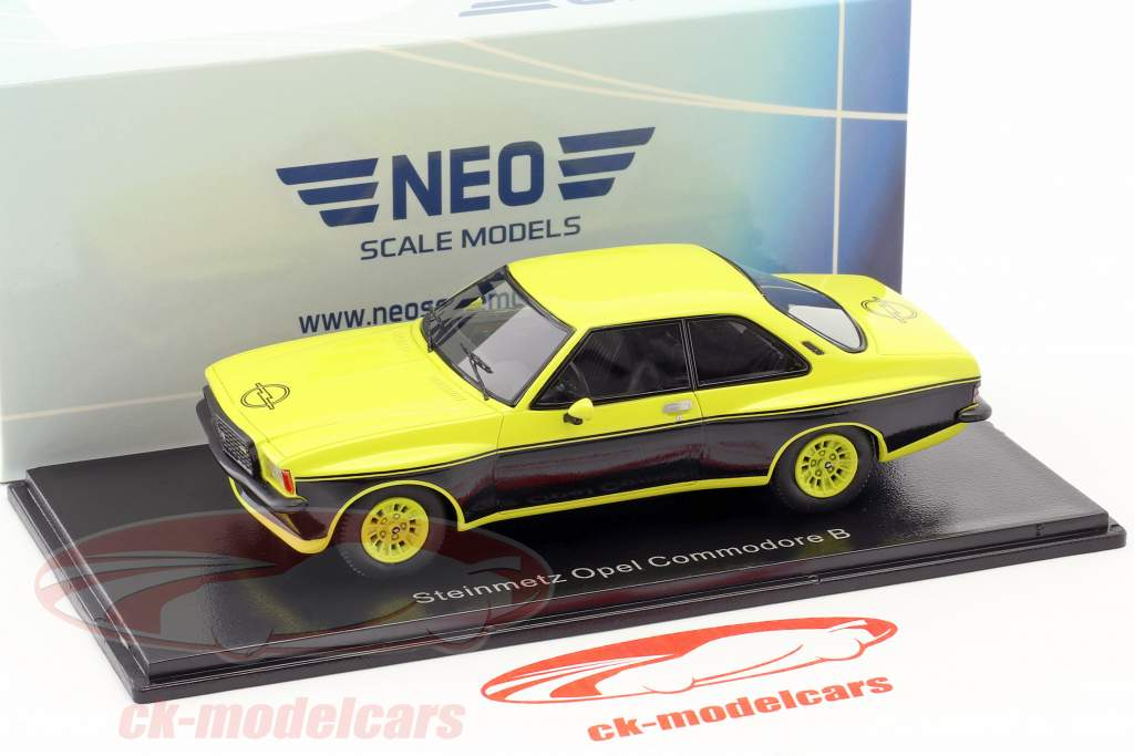 Steinmetz Opel Commodore B gelb / schwarz 1:43 Neo