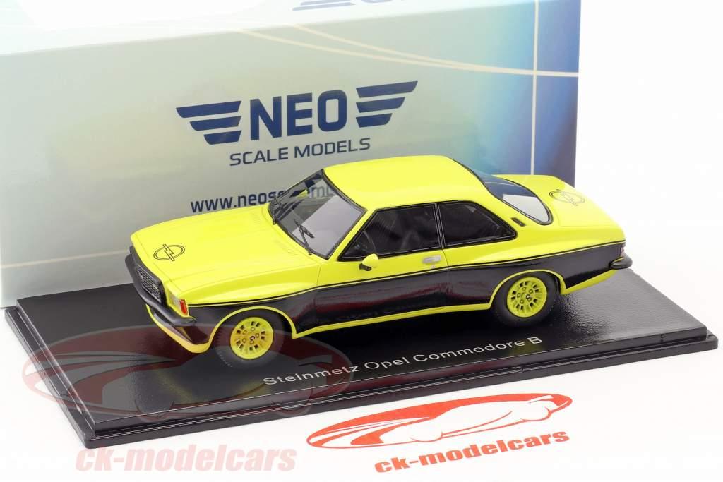 Steinmetz Opel Commodore B jaune / noir 1:43 Neo