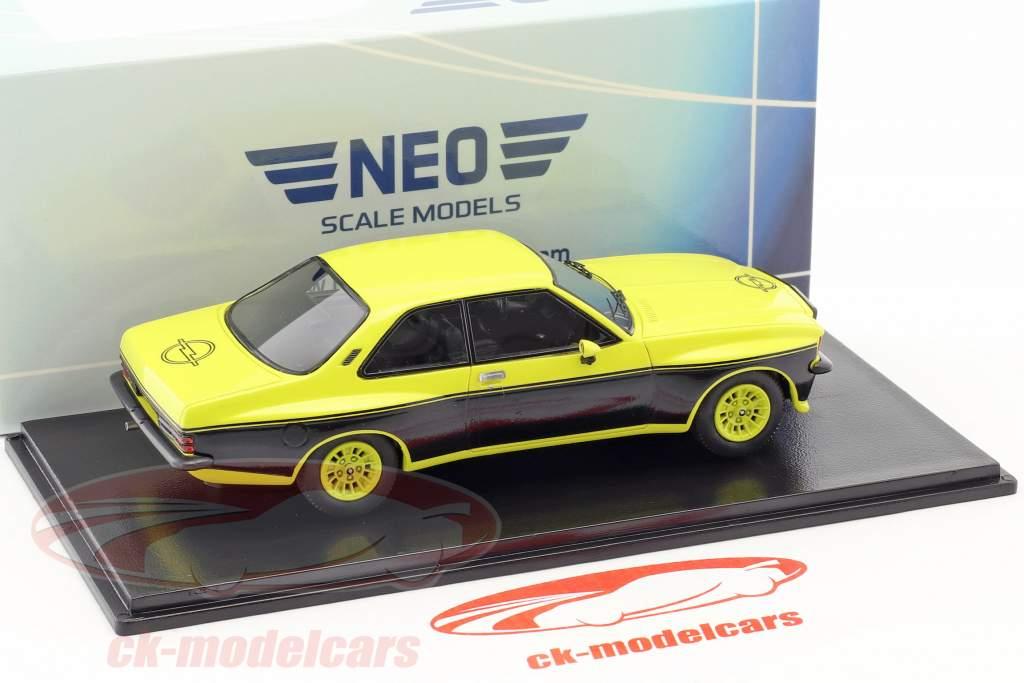 Steinmetz Opel Commodore B giallo / nero 1:43 Neo