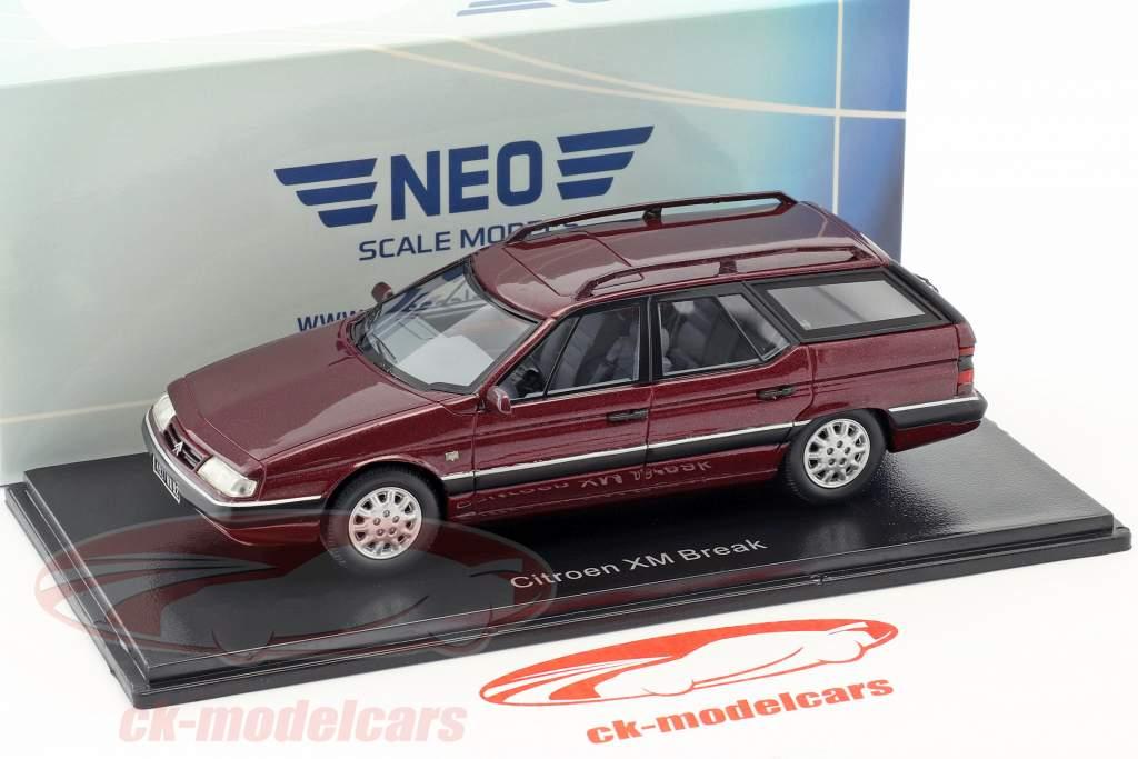Citroen XM Break Baujahr 1989 dunkelrot metallic 1:43 Neo