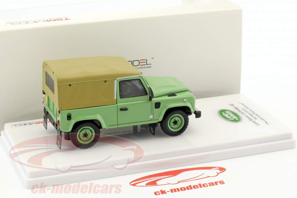 Land Rover Defender 90 Heritage Edition Construction year 2015 green 1:43 TrueScale