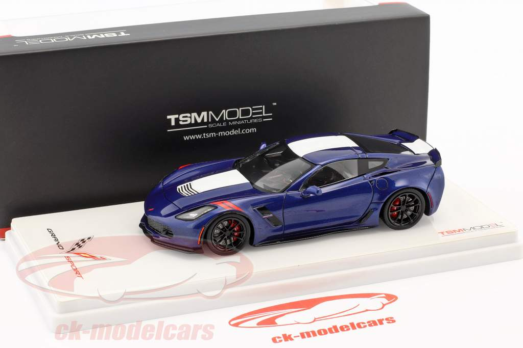 Chevrolet Corvette Grand Sport admiral bleu 1:43 TrueScale