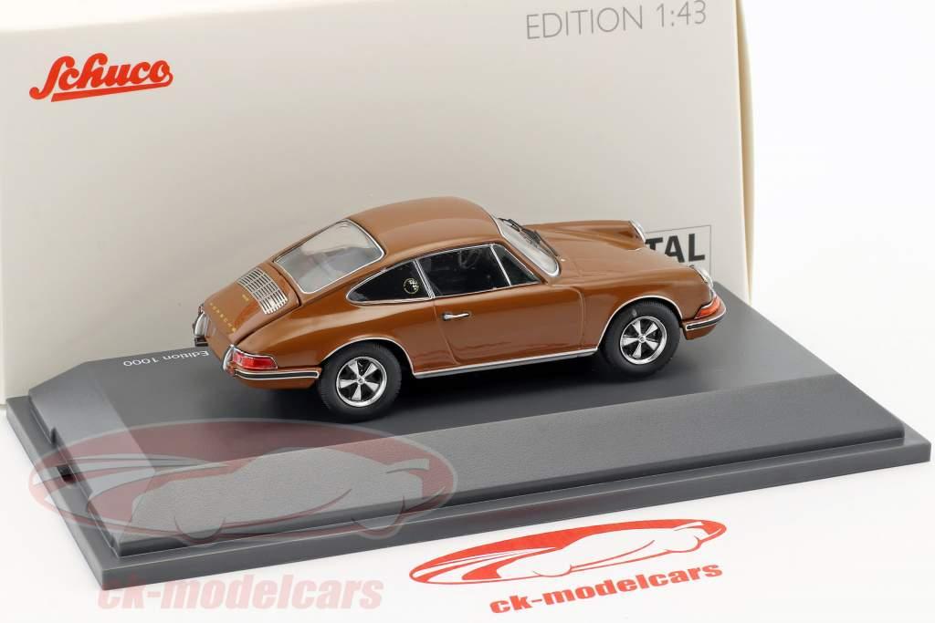 Porsche 911 S brown 1:43 Schuco
