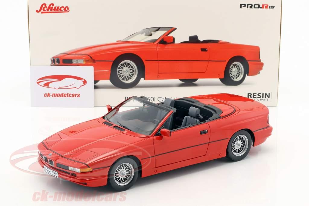 BMW 850i Cabriolet rosso 1:18 Schuco