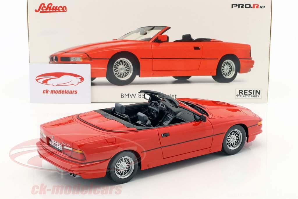 BMW 850i Cabriolet rot 1:18 Schuco