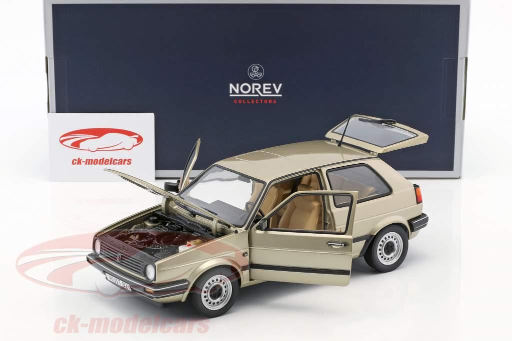 Volkswagen VW Golf II CL year 1988 beige metallic 1:18 Norev