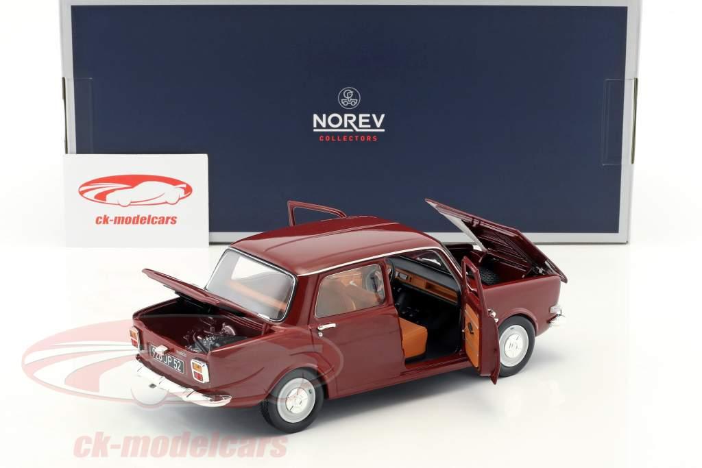 Simca 1000 LS Baujahr 1974 amarante rot 1:18 Norev