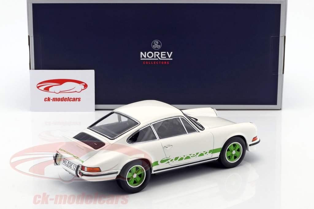 Porsche 911 RS Touring anno di costruzione 1973 bianco / verde 1:18 Norev
