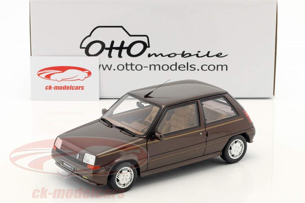 Renault Super 5 Baccara year 1984 brown 1:18 OttOmobile