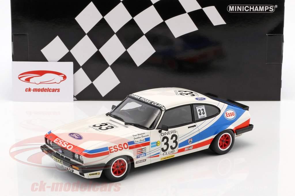Ford Capri 3.0 #33 tercero 24h Spa 1981 Woodman, Buncombe, Clark 1:18 Minichamps