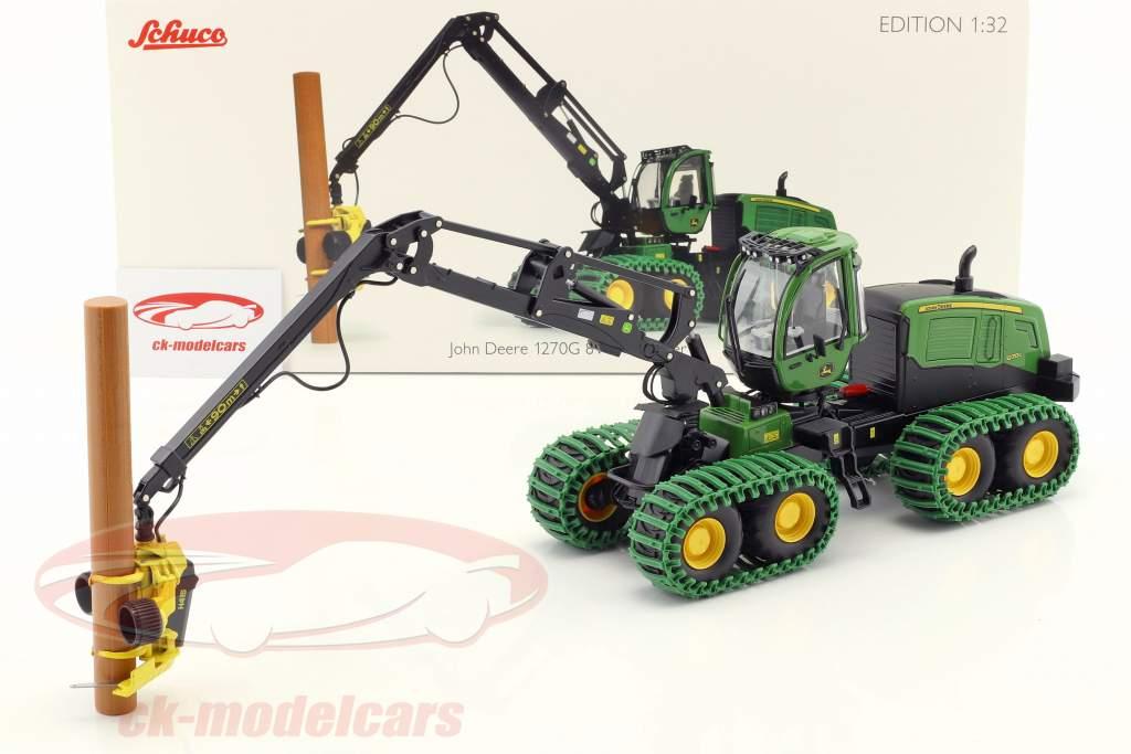 John Deere 1270G 8W Harvester verde 1:32 Schuco