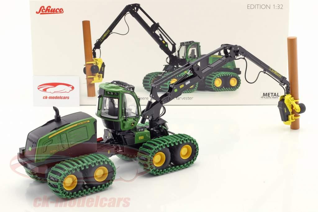 John Deere 1270G 8W Harvester grün 1:32 Schuco