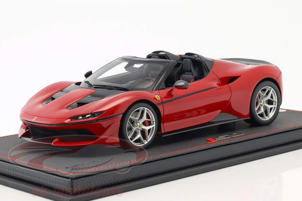 Ferrari J50 roadster 50e anniversaire Ferrari Japon 2016 rouge avec vitrine 1:18 BBR