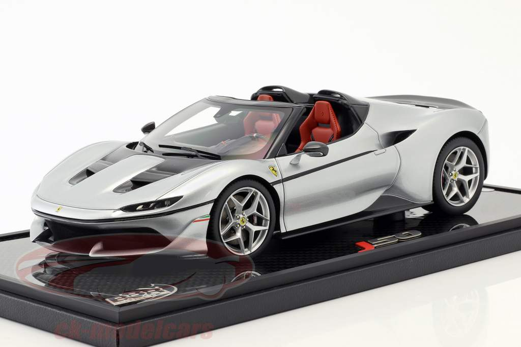 Ferrari J50 Roadster year 2016 pure metal silver 1:18 BBR